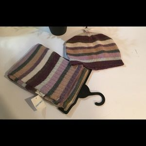 LIMITED TWO Wool Scarf and Beanie Stripped Set NEW